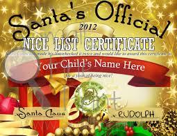 santa u0027s nice list certificate smallfineprint