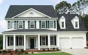 colonial home plans plan w15718ge classic center home plan e architectural design