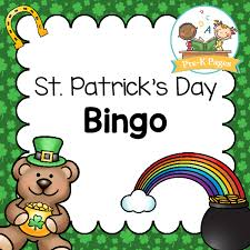 s day bingo st s day bingo pre k pages