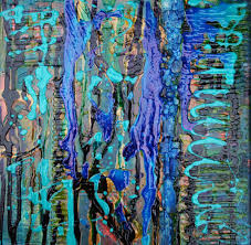 Shades Of Blue Paint by Scrivener P Shades Of Blue 12x12 Mixed Media Patt Scrivener Afca