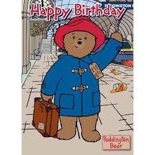 paddington bear happy birthday card danilo