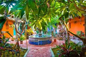 mexican garden with potted plants amazing mexican garden style