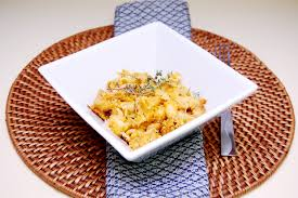 pumpkin macaroni and cheese with caramelized onion and smoked