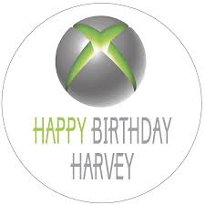 xbox cake topper edible white xbox cake topper decoration 4x3 co uk