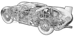 vintage cars drawings porsche 718 rsk chassis 001 porsche cars history