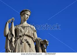 statue with ancient goddess marble statue stock photo 558443419