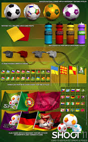 Football Country Flags Shoot 11 Euro Fever Playset Props And Poses 3d Figure Assets 3d