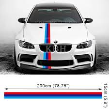 Bmw M3 Colour M Performanc 3 Colors Hood Decal Stripe Decal Sticker For Bmw E90