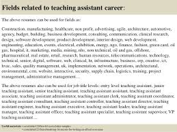 good covering letter for teaching assistant job 33 for resume