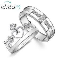 diamond wedding ring sets for cz diamond cross wedding band open heart crown engagement ring