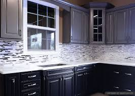 kitchen backsplash ideas black cabinets metal backsplash tile modern look stainless steel