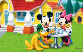 download mickey mouse with pluto cartoon images wallpaper hd