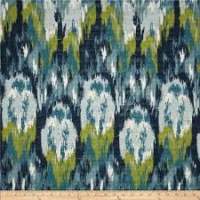 Ikat Home Decor by Home Accents Casbah Ikat Slub Baltic Blue Discount Designer