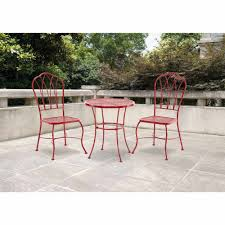 Walmart Patio Furniture In Store - mainstays harrison 3 piece bistro set red seats 2 walmart com