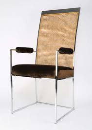 Fabric Dining Chair Low Back Armrests Milo Baughman Cane Back Dining Chairs At 1stdibs