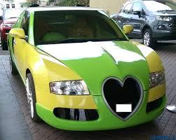 yellow bugatti spiritual leader turns old honda accord into a fake bugatti veyron