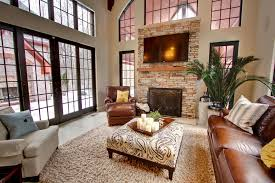 Massage Chair With Ottoman Living Room Transitional With Rustic - Family room themes