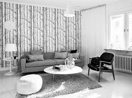 home decor awesome white grey living room with cool wallpaper at