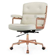 white gold office chair lyndon modern office chair luxe white gold aniline leather