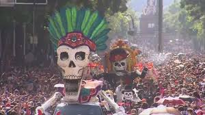 mexico city holds its bond inspired day of the dead
