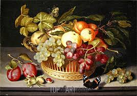 basket of fruit still with a basket of fruit johannes bosschaert painting