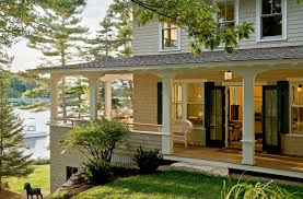 Large Front Porch House Plans Pinewold Cottage Boothbay Harbor Maine