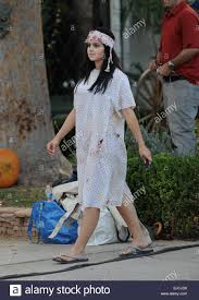 Bloody Nurse Halloween Costume Actress Ariel Winter Wears Insane Bloody Nurse Costume