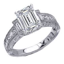 vintage emerald cut engagement rings engagement ring vintage emerald cut diamond engagement ring 1 11