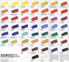chart golden paints color chart