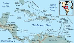 Map Of Usa East Coast by Caribbean Sea Wikipedia