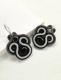 Chandelier Earrings Etsy Black And Red Earrings Black Chandelier Earrings Soutache Earrings