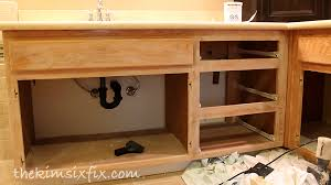 Stain Oak Cabinets How To Stain Oak Cabinetry Tutorial The Kim Six Fix