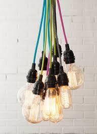 single light bulb with cord elegant pendant light cord white nylon braided covered light cord