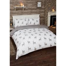 stag brushed cotton duvet set double bedding b u0026m