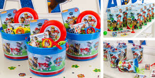 favors online paw patrol party favors i found these buckets online at party city