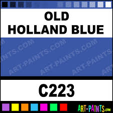 old holland blue classic watercolor paints c223 old holland