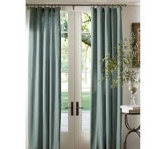 Pottery Barn Linen Curtains Emery Linen Cotton Pole Pocket Drape Barn Linens And Linen Curtain