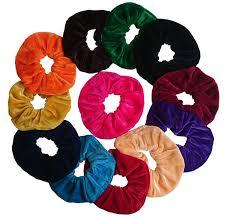 hair scrunchy aadya s set of 12 velvet hair scrunchies elastic