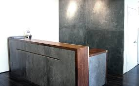 Concrete Reception Desk Trueform Commercial Concrete Portfolio