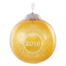 commemorative gold glass ornament keepsake