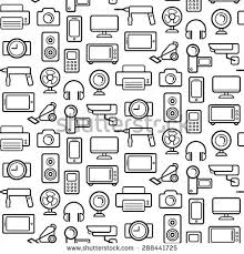 vector seamless pattern electrical engineering household stock