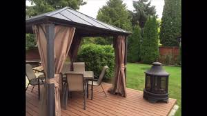 Gazebo Fire Pit Ideas by New Crazy Project New Metal Roof Gazebo 10x10 New Deck New Patio