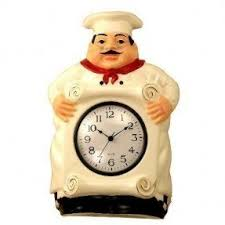 Chef Kitchen Decor Accessories Decorative Wall Clocks For Kitchen Foter