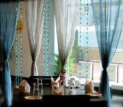 Dining Room Drapes Dining Room Blue Curtains The Art Of Designing Dining Room With
