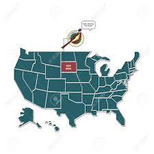 state bird of south dakota us map with south dakota state bird royalty free cliparts vectors