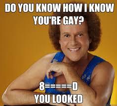 You Know How I Know You Re Gay Meme - do you know how i know you re gay 8 d you looked know your