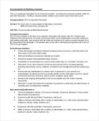 Event Coordinator Job Description Resume by Marketing Coordinator Job Description Marketing And