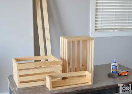 Leaning Bookcase Woodworking Plans by Easy Crate Leaning Shelf And Storage Her Tool Belt