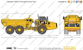 the blueprints com vector drawing caterpillar 740b ej