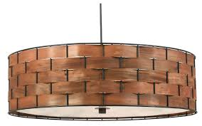 charming oversized drum shade pendant light pendant lighting wood